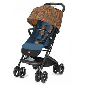 Carucior sport GB Qbit+ All Terrain Fashion Edition 620000011, 5 puncte, 0 luni+, albastru-portocaliu