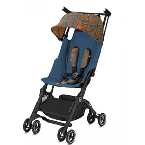 Carucior sport GB Pockit+ All Terrain Fashion Edition 620000043, 5 puncte, 6 luni+, albastru-portocaliu