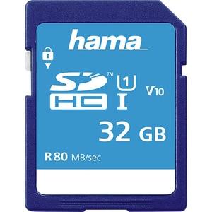 Card de memorie HAMA 124135 SDHC, 32GB, clasa 10 UHS-I, 80MBs