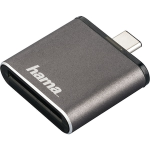 Cititor de carduri HAMA 124186, USB 3.1 Tip C, UHS II OTG, gri