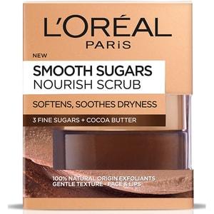 Exfoliant fata cu zahar L'OREAL PARIS Smooth Sugars, 50ml