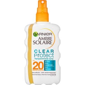Spray protectie solara GARNIER Ambre Solaire Clear Protect, SPF 20, 200ml
