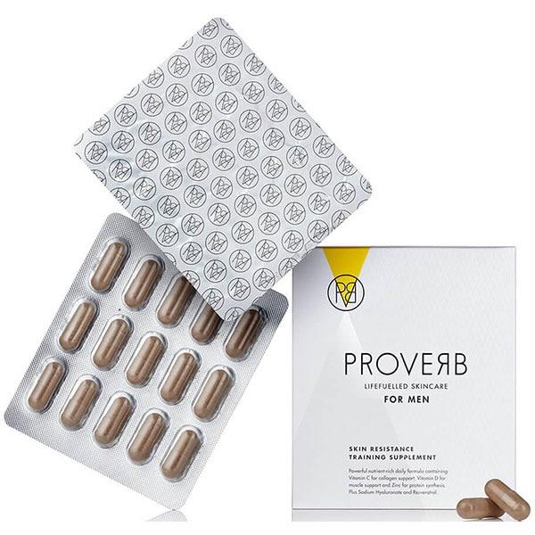 Supliment alimentar pentru barbati PROVERB Skin resistance training, 60 capsule
