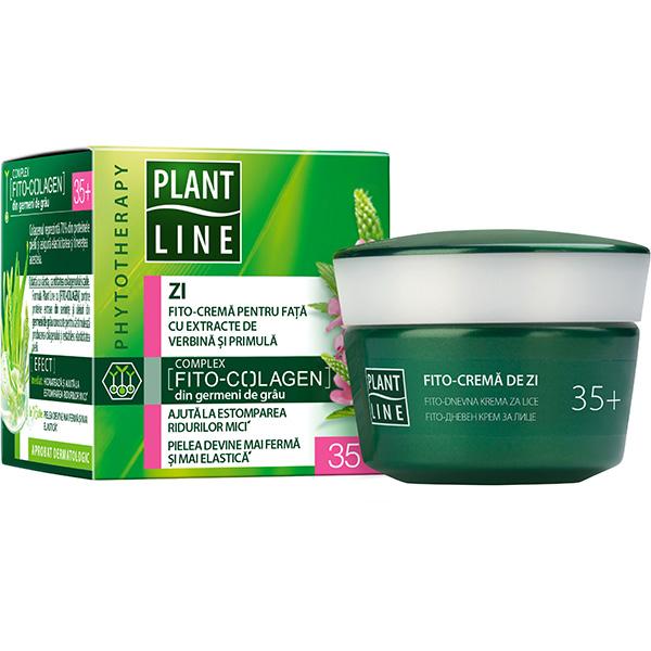 Crema antirid de zi cu extract de verbina PLANT LINE, 35+, 45ml