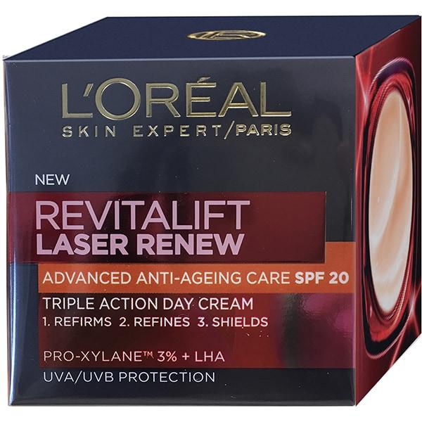 Crema antirid L'OREAL PARIS Revitalift Laser, SPF 20, 50ml