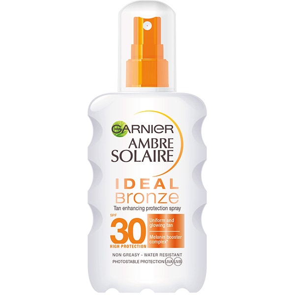 Spray protectie solara GARNIER Ambre Solaire Ideal Bronze, SPF 30, 200ml