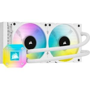 Cooler procesor cu racire lichida CORSAIR iCUE H100i Elite Capellix White, 120mm