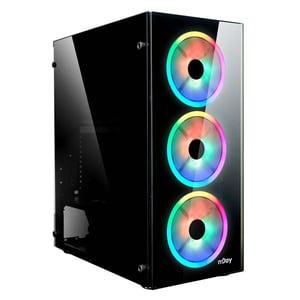 Carcasa NJOY Oryn RGB, USB 3.0, Fara sursa, negru