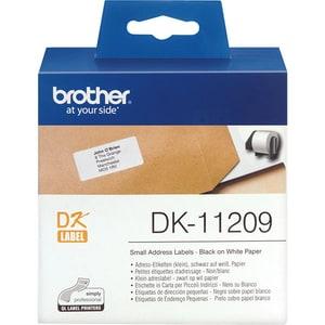 Banda etichete BROTHER DK-11209, 29 mm, 0.62 m, Negru pe Alb