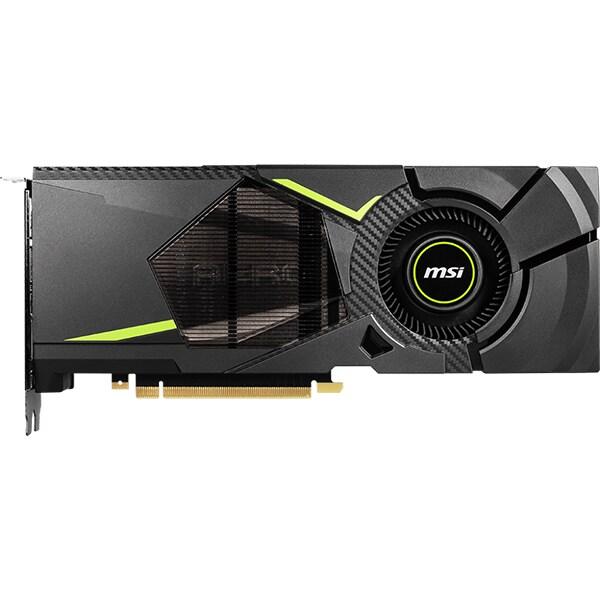 Placa video MSI GeForce RTX 2070 AERO 8G, 8GB GDDR6 256bit, AERO-RTX2070-8G