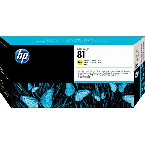 Cap imprimare original HP 81 (C4953A), galben