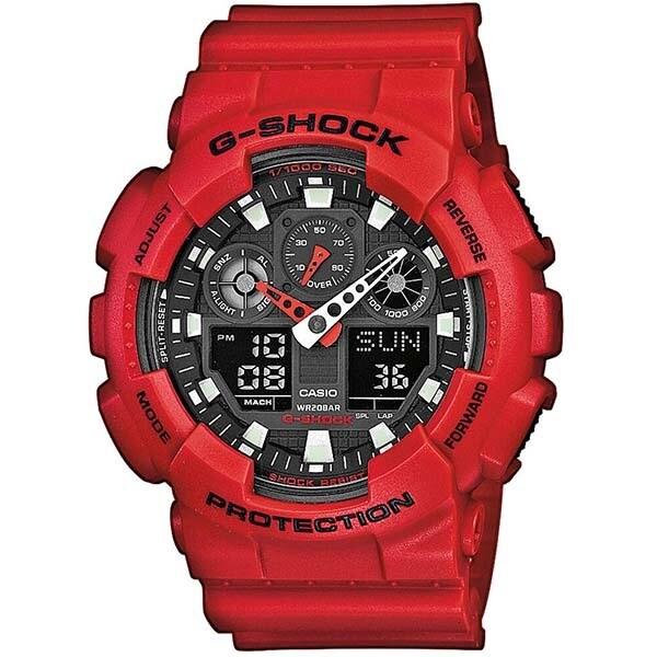 Ceas barbatesc CASIO G-Shock GA-100B-4AER, 51mm, 20ATM