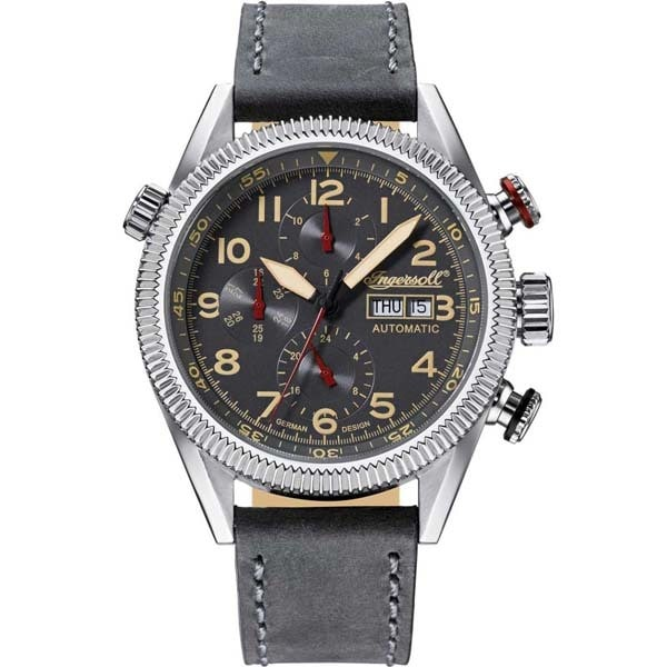 Ceas barbatesc INGERSOLL IN1102GU Grizzly, Automatic, 46mm, 5ATM