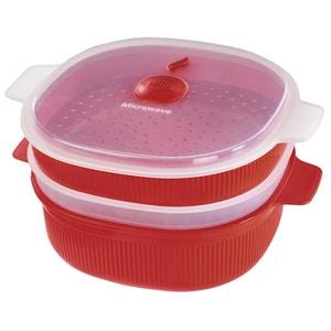 Caserola pentru cuptorul cu microunde XAVAX 111485,l, plastic, rosu