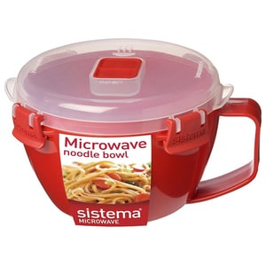 Bol SISTEMA Microwave Noodle 4031067, 0.9l, plastic, rosu