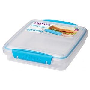 Caserola SISTEMA Sandwich 4031090, 0.45l, plastic, transparent