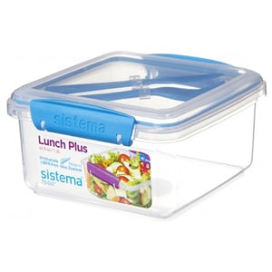 Caserola cu tacamuri SISTEMA Lunch Plus 4031091, 1.2l, plastic, transparent