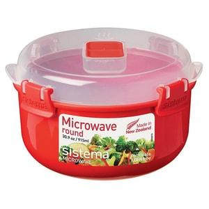 Bol plastic pentru micounde SISTEMA 4040091, 0.915l