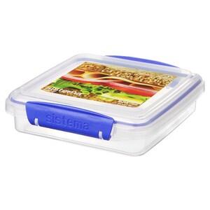 Caserola SISTEMA Klip It Sandwich Box 4049271, 0.45l, plastic, transparent