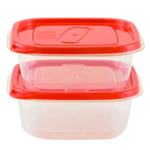Set caserole OURSSON CP1081S/RD, 2 piese, 0.4l, plastic, rosu