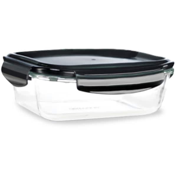 Caserola DELIMANO Astoria Glass Container 110031301, 1.5l, sticla, transparent-negru