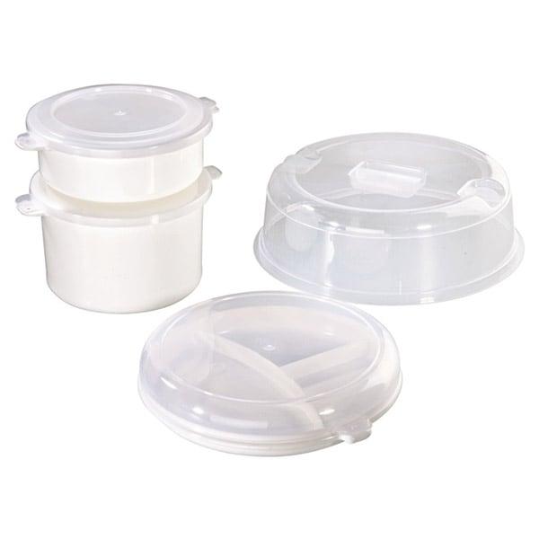 Set caserole XAVAX 110829, 4 piese, 0.5-2l, alb