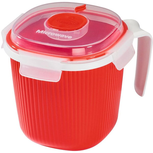 Caserola XAVAX 111487, 0.7l, plastic, rosu