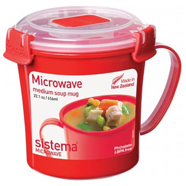 Cana SISTEMA Microwave 4031066, 0.656l, plastic, rosu