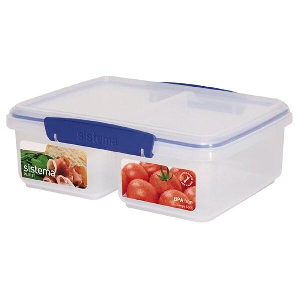 Caserola compartimentata SISTEMA Klip IT 4031081, 2l, plastic, transparent