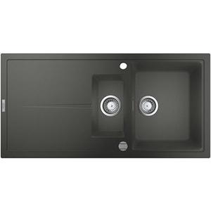 Chiuveta bucatarie GROHE K400 31642AT0, 1 1/2 cuve, picurator reversibil, compozit quartz, antracit