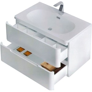 Chiuveta baie ROMSTAL 80KZ0009, montare sub blat, 85 x 49 cm, alb