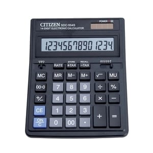Calculator de birou CITIZEN SDC-554S, 14 cifre, negru