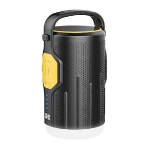 Lanterna LED campnig PROMATE CampMate-2, 200 lumeni, Powerbank 10000mAh, Boxa Bluetooth, negru-galben