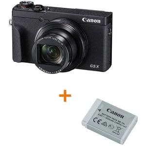 Camera foto digitala CANON PowerShot G5 X Mark ll + Acumulator Canon NB-13L, 4K, 20.1Mp, 5x, 3 inch, Black