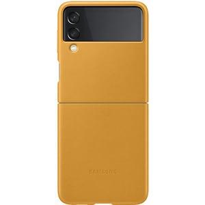 Carcasa pentru SAMSUNG Galaxy Z Flip3, EF-VF711LYEGWW, piele, galben mustar
