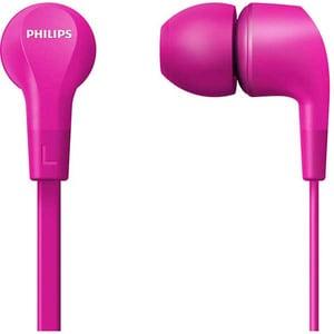 Casti PHILIPS TAE1105PK/00, Cu fir, In-ear, Microfon, roz