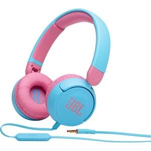 Casti pentru copii JBL Jr310, Cu fir, On-ear, Microfon, albastru