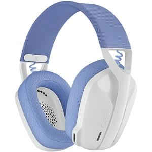 Casti Gaming Wireless LOGITECH G435 Lightspeed, multiplatforma, 3.5mm, USB-C, alb