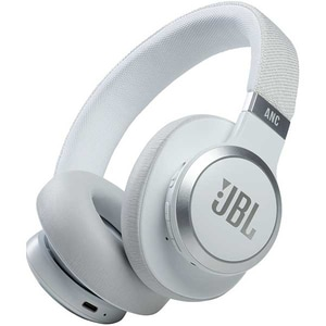 Casti JBL Live 660NC, Bluetooth, Over-ear, Microfon, Noise Cancelling, alb