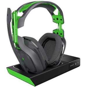 Casti Gaming Wireless ASTRO A50, surround, gri-verde + Base Station Xbox One