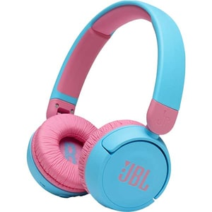 Casti pentru copii JBL Jr310BT, Bluetooth, On-ear, Microfon, albastru-roz