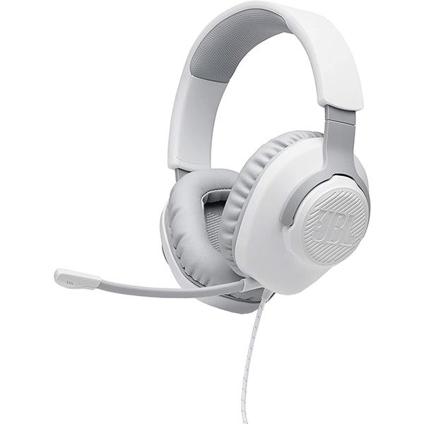 Casti Gaming JBL Quantum 100, multiplatforma, 3.5mm, alb