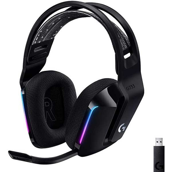 Casti Gaming Wireless LOGITECH G733 LIGHTSPEED RGB, 7.1 surround, multiplatforma, negru