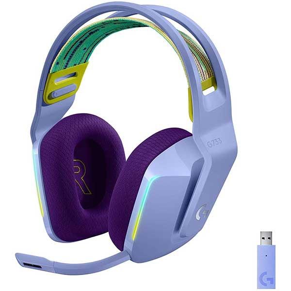 Casti Gaming Wireless LOGITECH G733 LIGHTSPEED RGB, 7.1 surround, multiplatforma, liliac