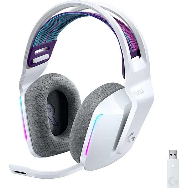 Casti Gaming Wireless LOGITECH G733 LIGHTSPEED RGB, 7.1 surround, multiplatforma, alb