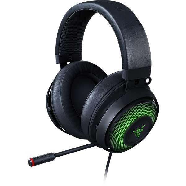 Casti Gaming RAZER Kraken Ultimate ANC, multiplatforma, USB, negru-verde