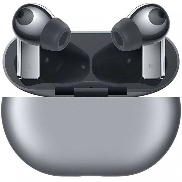 Casti HUAWEI FreeBuds Pro, True Wireless, Bluetooth, In-Ear, Microfon, Carcasa Incarcare Wireless, Noise Cancelling, Silver Frost