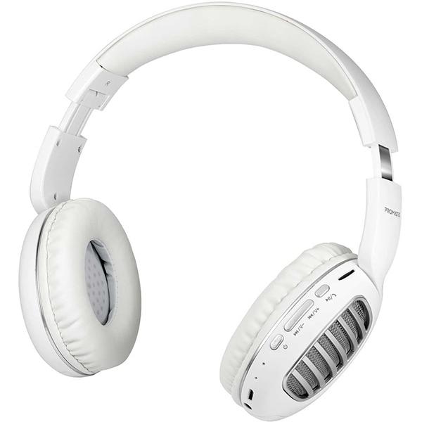 Casti PROMATE Concord, Bluetooth, On-Ear, Microfon, slot MicroSD, argintiu
