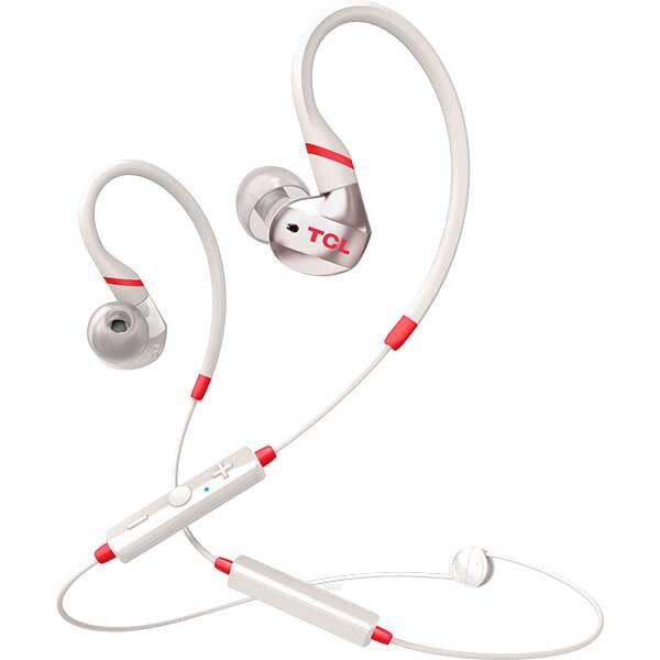 Casti TCL ACTV100BTWT-EU, Bluetooth, In-ear, Microfon, Crimson White