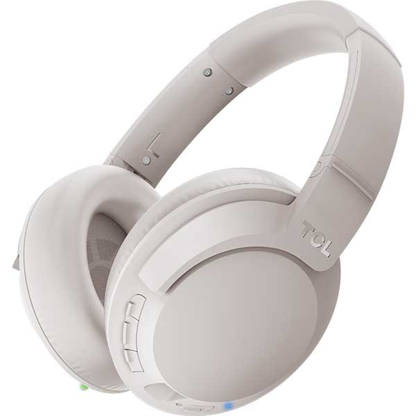 Casti TCL ELIT400NCWT-EU, Bluetooth, Over-ear, Microfon, Noise Cancelling, Cement Gray